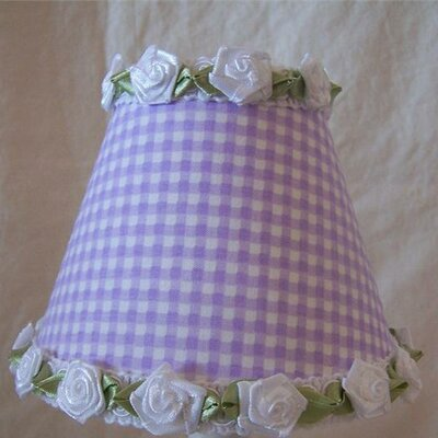 Gardens of Gingham 5 Fabric Empire Candelabra Shade Color: Lavendar