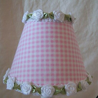 Gardens of Gingham 5 Fabric Empire Candelabra Shade Color: Pink