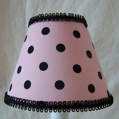 Black Spot Dot 5 Fabric Empire Candelabra Shade