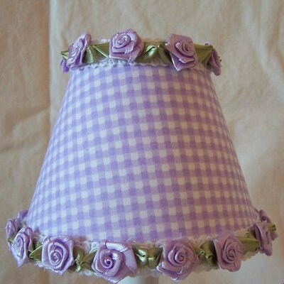 Gardens of Gingham 11 Fabric Empire Lamp Shade Shade Color: Purple