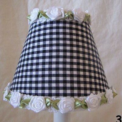 Gardens of Gingham 5 Fabric Empire Candelabra Shade