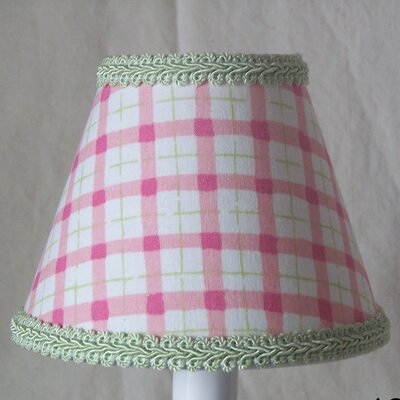 Watermelon Plaid 5 Fabric Empire Candelabra Shade