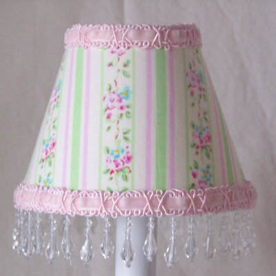 Striped Floral 5 Fabric Empire Candelabra Shade