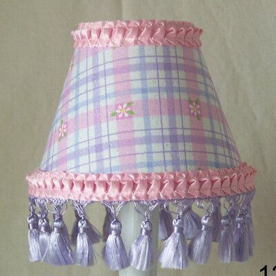 Daisy Plaid 5 Fabric Empire Candelabra Shade