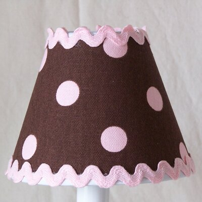 Chocolate Ric-Rac 11 Fabric Empire Lamp Shade
