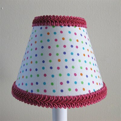 Rainbow Sprinkles 11 Fabric Empire Lamp Shade