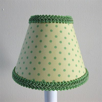 5 Fabric Empire Candelabra Shade Color: Green