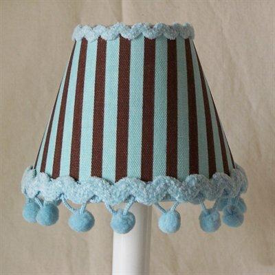Striped Desserts 5 Fabric Empire Candelabra Shade