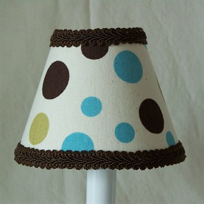 Dots In Color 5 Fabric Empire Candelabra Shade
