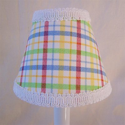 Poppin Plaid 5 Fabric Empire Candelabra Shade