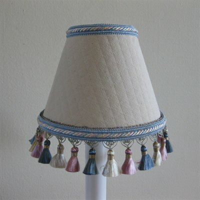 Clearly Cute 5 Fabric Empire Candelabra Shade