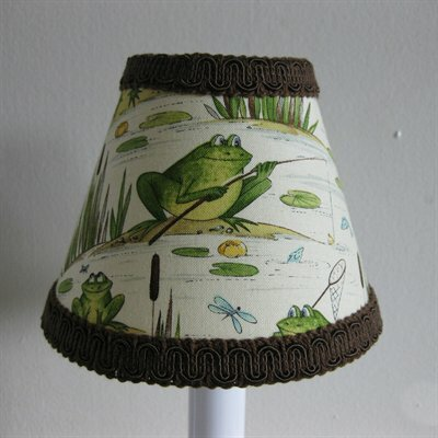 Fishing Frogs 5 Fabric Empire Candelabra Shade