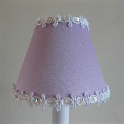 Pixie Wish 5 Fabric Empire Candelabra Shade Color: Lavender