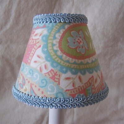 Morning Glory 5 Fabric Empire Candelabra Shade