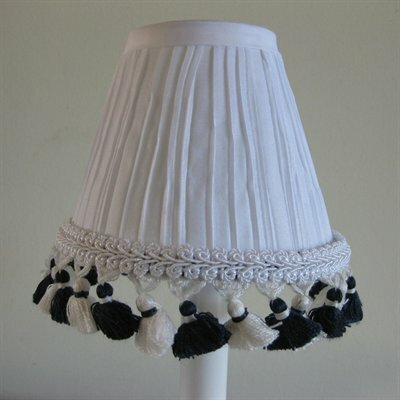 5 Fabric Empire Candelabra Shade Color: Navy