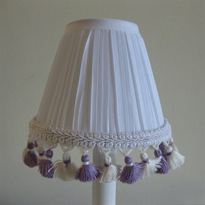 5 Fabric Empire Candelabra Shade Color: Lilac
