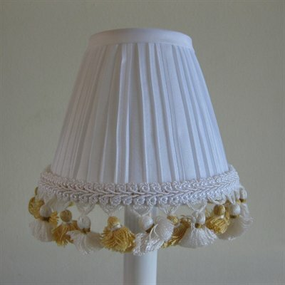 5 Fabric Empire Candelabra Shade Color: Yellow