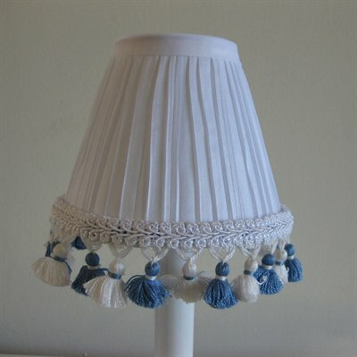 5 Fabric Empire Candelabra Shade Color: Blue