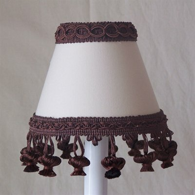 Chocolate Muffin Mix 5 Fabric Empire Candelabra Shade
