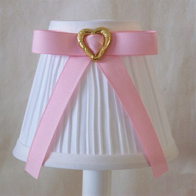 5 Fabric Empire Candelabra Shade Ribbon Color: Pink