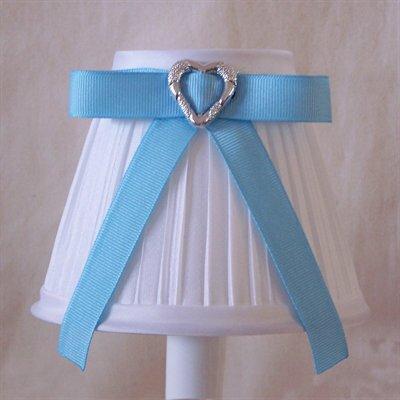 5 Fabric Empire Candelabra Shade Ribbon Color: Blue