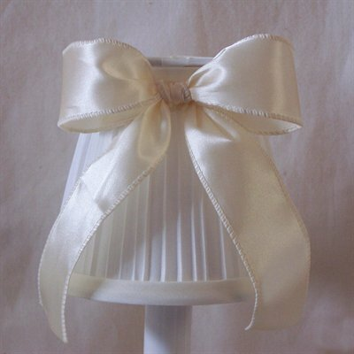 5 Fabric Empire Candelabra Shade Color: White