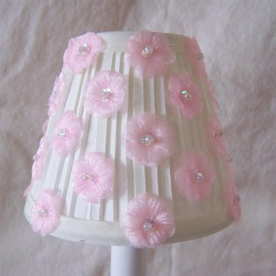 5 Fabric Empire Candelabra Shade Color: Ivory / Pink