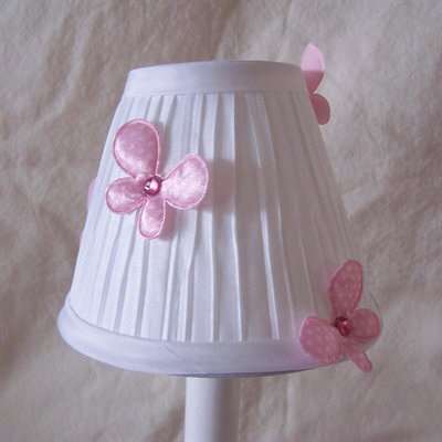 Fluttering Butterflies 5 Fabric Empire Candelabra Shade Color: Pink