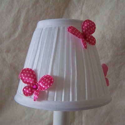 Fluttering Butterflies 5 Fabric Empire Candelabra Shade Color: Hot Pink