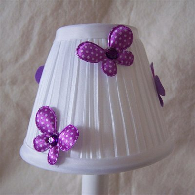 Fluttering Butterflies 5 Fabric Empire Candelabra Shade Color: Purple