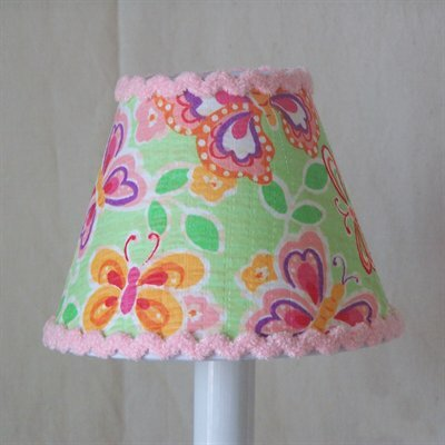 Beautiful Butterflies 5 Fabric Empire Candelabra Shade