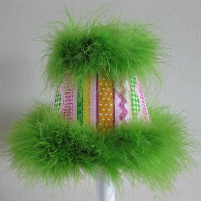 Screamin Sour Stripes 11 Fabric Empire Lamp Shade