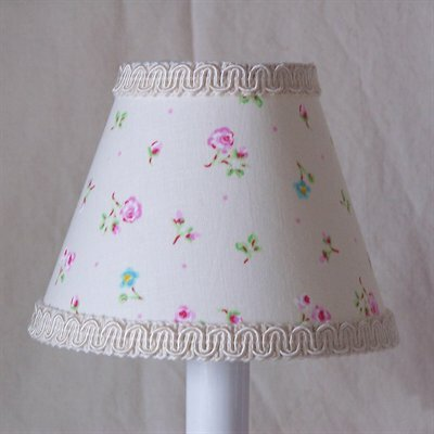 Angelic Floral 5 Fabric Empire Candelabra Shade