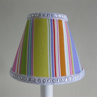Sweet Candy Stripes 5 Fabric Empire Candelabra Shade