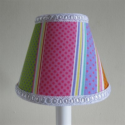 Sweet Tart Stripes 5 Fabric Empire Candelabra Shade