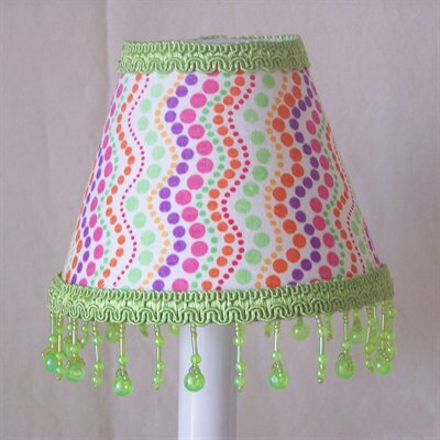 Caterpillar Craze 5 Fabric Empire Candelabra Shade