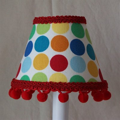 Circus Circles 11 Fabric Empire Lamp Shade