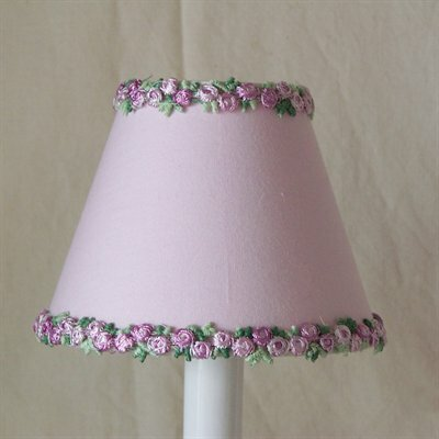 Love of Lavender 5 Fabric Empire Candelabra Shade