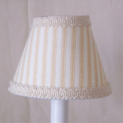 Striped Clamshell 11 Fabric Empire Lamp Shade