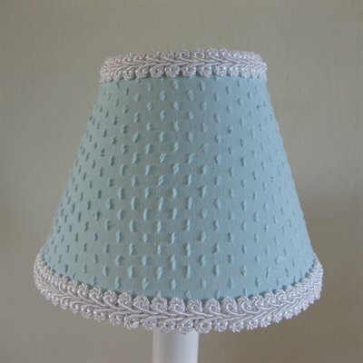 Teeny Chenille 5 Fabric Empire Candelabra Shade Color: Blue