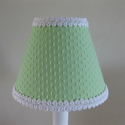 Teeny Chenille 5 Fabric Empire Candelabra Shade Color: Green
