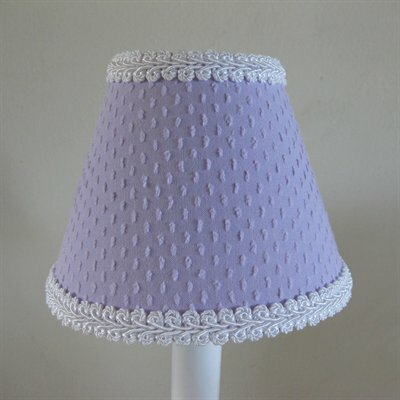 Teeny Chenille 5 Fabric Empire Candelabra Shade Color: Lavender