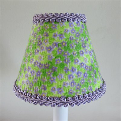 Lavender Fields 5 Fabric Empire Candelabra Shade