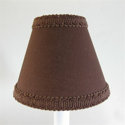 Count Chocula 5 Fabric Empire Candelabra Shade Color: Brown