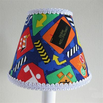 Construction Cutie 5 Fabric Empire Candelabra Shade