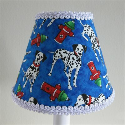 Firemans Friend 5 Fabric Empire Candelabra Shade