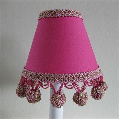 Tangy Tango 5 Fabric Empire Candelabra Shade Color: Hot Pink