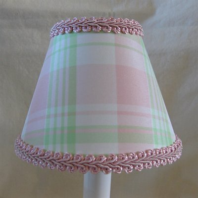 Taffy 11 Fabric Empire Lamp Shade Color: Pink/Green