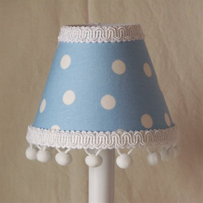 Jack and Beanstalk 5 Fabric Empire Candelabra Shade Color: Blue