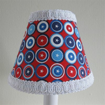 Captain America 5 Fabric Empire Candelabra Shade
